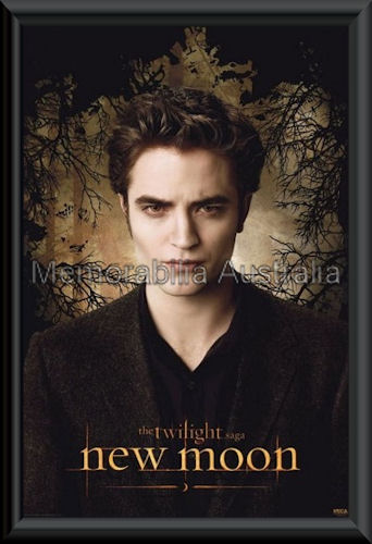 New Moon Edward Poster Framed Twilight Movie